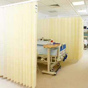 Antibakteeriset verhot sairaalassa